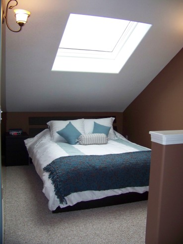 Sleeping Loft under skylight